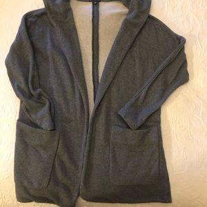 James Perse Hooded Fleece cardigan